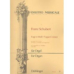 Schubert, Franz: Fuge e-Moll op.posth,152 D952 : für Orgel zu 4 Händen