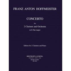 Hoffmeister, Franz Anton: Konzert Es-Dur f├╝r 2 Klarinetten und Orchester : f├╝r 2 Klarinetten und Klavier