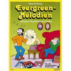 Evergreen-Melodien : Einfaches Orgelspiel nach Zahlen