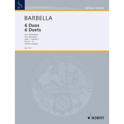 Barbella, Emanuele: 6 Duos Band 2 (Nr.4-6) : für 2 Mandolinen, Stimmen
