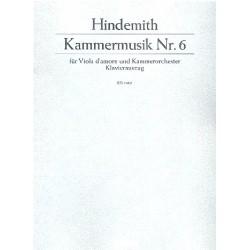 Hindemith, Paul: Kammermusik Nr.6 : für Viola d'amore und Kammerorchester : für Viola d'amore und klavier