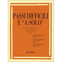 Passi difficili e a solo vol.1 : per oboe e per corno inglese da opere liriche italiane