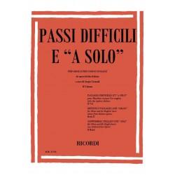 Passi difficili e a solo vol.2 : per oboe e per corno inglese da opere liriche italiane