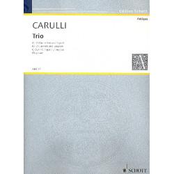 Carulli, Benedetto: Trio C-Dur op.1 : für 2 Klarinetten und Fagott Partitur und Stimmen