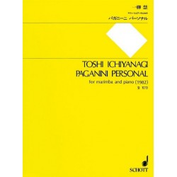 Ichiyanagi, Toshi: PAGANINI PERSONAL FOR MARIMBA AND PIANO, 1982 SCORE