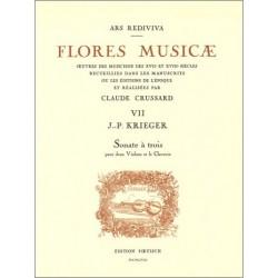 Krieger, Johann Philipp: Sonate à trois : pour 2 violons et clavecin