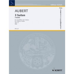 Aubert, Jacques: 3 Suiten op.15 für 2 Flöten (vl) Spielpartitur