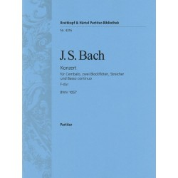 Bach, Johann Sebastian: Konzert F-Dur BWV1057 : für Cembalo, 2 Flöten und Streicher Partitur