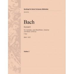 Bach, Johann Sebastian: Konzert F-Dur BWV1057 : für Cembalo, 2 Blockflöten, Streicher und Bc Violine 2