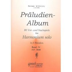 Wenzel, Hermann: Präludien-Album Band 4 : 80 Vor- und Nachspiele für Harmonium Verlagskopie
