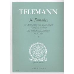 Telemann, Georg Philipp: 36 Fantasien Band 2 (Nr.9-18) : für Altblockflöte und Tenorblockflöte (Flöte, Violine), Spielpartitur