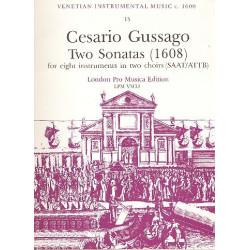 Gussago, Cesario: 2 Sonatas for 8 instruments SAAT/ATTB score and parts
