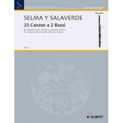 Selma y Salaverde, Bartolo: Canzon 23 à due bassi : für 2 Fagotte und Bc