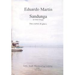 Martín, Eduardo: Sandunga für 4 Gitarren Partitur und Stimmen