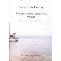 Boeris, Sebastián: 6 Stücke für Violine, Viola und Klavier Stimmen
