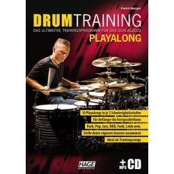 Metzger, Patrick: Drum Training Playalong (+mp3-CD) : für Schlagzeug