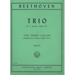 Beethoven, Ludwig van: Trio C major op.87 : for 3 cellos parts