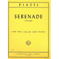 Piatti, Alfredo Carlo: Serenade D major : for 2 violoncellos and piano