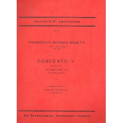 Rosetti, Antonio (Franz Anton R├Âssler): Concerto Mib maggiore no.5 : per 2 corni e pianoforte
