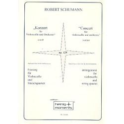 Schumann, Robert: Konzert a-Moll op.129 für Violoncello und Orchester : für Violoncello und Streichquartett, Partitur und