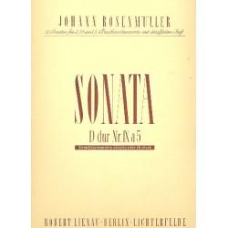 Rosenmüller, Johann: Sonate D-Dur Nr.9 à 5 : für 2 Violinen, 2 Violen, Violoncello und Klavier Partitur