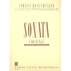 Rosenm├╝ller, Johann: Sonata Nr.10 : f├╝r 2 Violinen, 2 Violen, Violoncello und Klavier Partitur