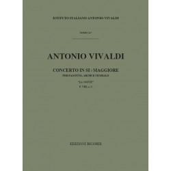 Vivaldi, Antonio: Concerto si bemol maggiore RV501 : per fagotto e orchestra d'archi partitura
