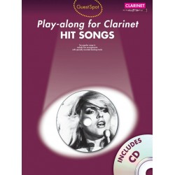 Hit Songs (+CD): for clarinet Guest Spot Playalong