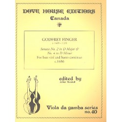 Finger, Gottfried: 2 Sonatas for bass viol and Bc