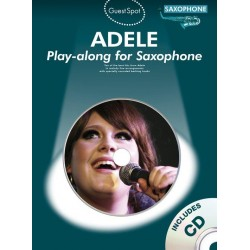 Adele (+CD) : for alto saxophone Guest Spot Playalong