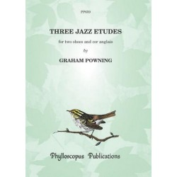 Powning, Graham: 3 Jazz Etudes : for 2 oboes and cor anglais score and parts
