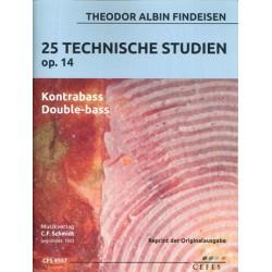 Findeisen, Theodor Albin: 25 technische Studien op.14 : f├╝r Kontrabass