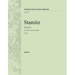 Stamitz, Johann Anton: KONZERT D-DUR FUER FLOETE UND OR- CHESTER LEBERMANN, WALTER, ED VIOLINE 1