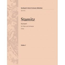 Stamitz, Johann Anton: Konzert D-Dur für Flöte und Orchester Violine 2