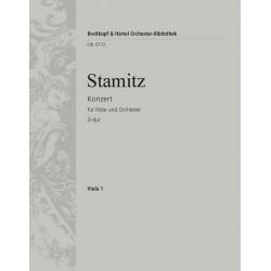 Stamitz, Johann Anton: Konzert D-Dur für Flöte und Orchester Viola
