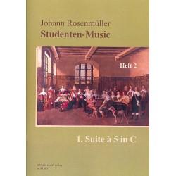 Rosenmüller, Johann: Studenten-Music Band 2 (Nr.8-15) - Suite C-Dur Nr.1 à 5 : für 5 Violen und Bc Partitur und Stimmen