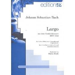 Haug, Christian Maria: Largo aus dem Konzert BWV1056 für Cembalo und Orchester : für Violine (Flöte/Mandoline/Violoncello) und