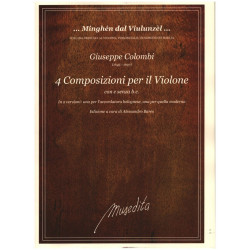 Colombi, Giuseppe: 4 Composizioni per violone con e senza Bc für Violone (Kontrabass) (z.T. mit Bc) Partitur (Bc nicht