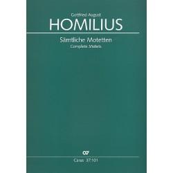 Homilius, Gottfried August: Ausgewählte Werke Reihe 3 - Kirchenwerke ohne Orchester Band 1 : Sämtliche Motetten a cappella