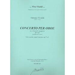Vivaldi, Antonio: Konzert B-Dur RV465 für Oboe, Streicher und Orgel Partitur und Stimmen (Bc nicht ausgesetzt) (Streicher