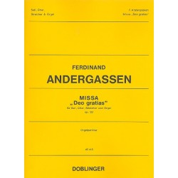Andergassen, Ferdinand: Missa Deo gratias op.122 : f├╝r Soli, gem Chor, Streicher und Orgel Partitur ( Orgel)
