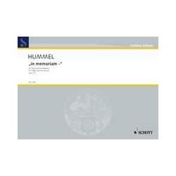 Hummel, Bertold: In memoriam op.74 : f├╝r Orgel und Schlagzeug