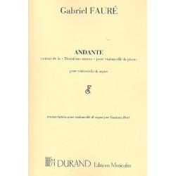 Fauré, Gabriel Urbain: Andante : pour violoncelle et orgue