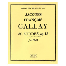 Gallay, Jacques Francois: 30 études op.13 : for tuba