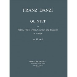 Danzi, Franz: Quintett F-Dur Nr.1 op..53 : für Flöte, Oboe, Klarinette, Fagott und Klavier