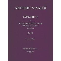 Vivaldi, Antonio: Flötenkonzert in c RV441 : for treble recorder (fl), strings, bc Partitur und Stimmen