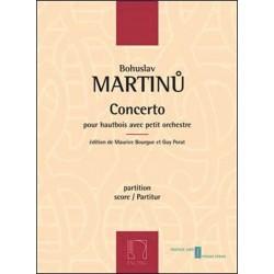 Martinu, Bohuslav: Concerto pour hautbois et petit orchestre partition