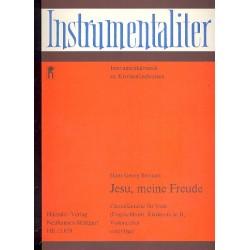 Bertram, Hans Georg: Jesu meine Freude : f├╝r Viola (Englischhorn, Klarinette, Violoncello) und Orgel
