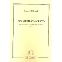 Milhaud, Darius: Concerto no.2 : pour 2 pianos et percussion (4) partition