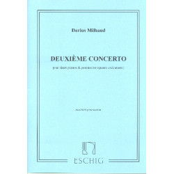 Milhaud, Darius: Concerto no.2 : pour 2 pianos et percussion matériel percussion (4 parties)